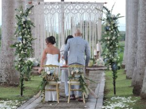 El Lugar Nordico Garden Ceremony Wedding