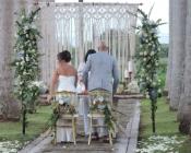 El Lugar Nordico Garden Ceremony Wedding